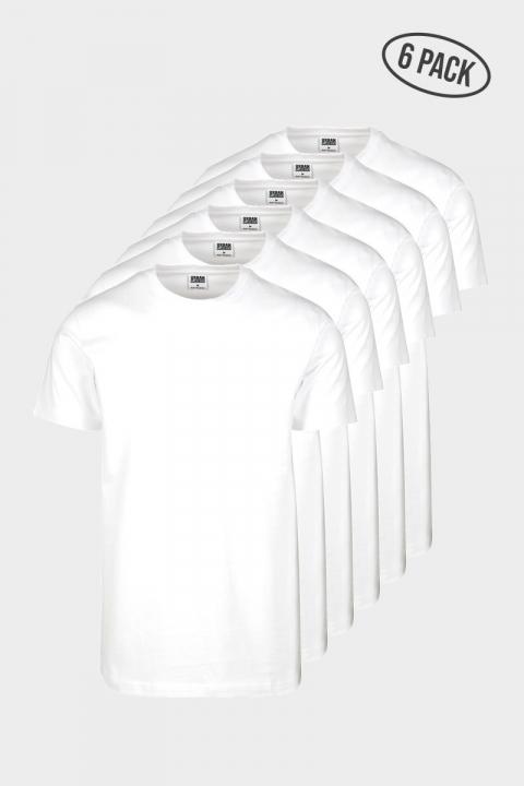 Urban Classics Basic Tee 6-Pack White