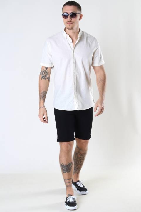 Clean Cut Copenhagen Cotton / Linnen Shirt S/S Ecru