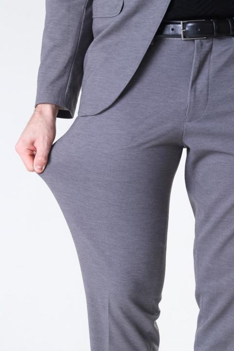 Selected Slim Jim Flex Byxor Light Grey Melange