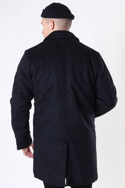 Denim Project Uldfrakke Black