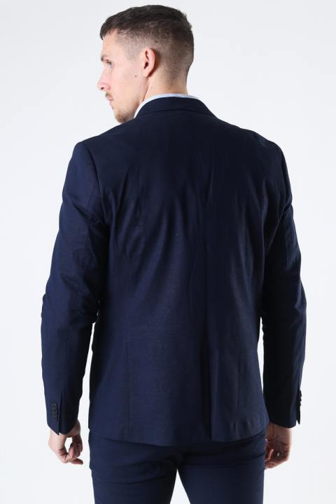 Clean Cut Copenhagen Cotton Linen Blazer Navy
