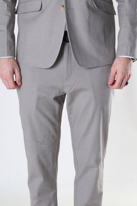 Clean Cut Copenhagen Milano Cotton Linen Pants Grey