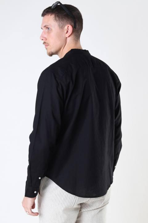 Clean Cut Copenhagen Cotton / Linnen Mao L/S Black