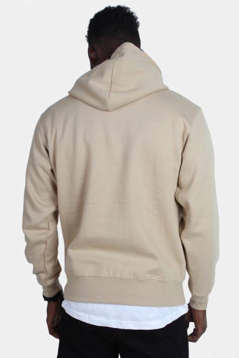 Basic Brand Hooded Tröja Sand