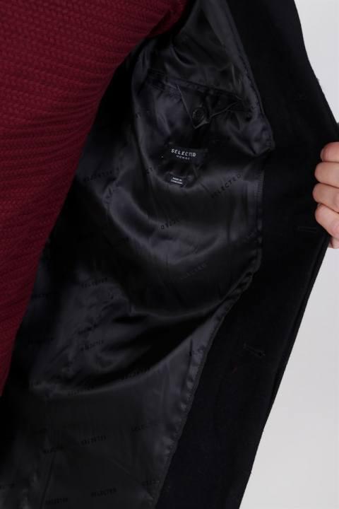 Selected Brove Uldfrakke Black