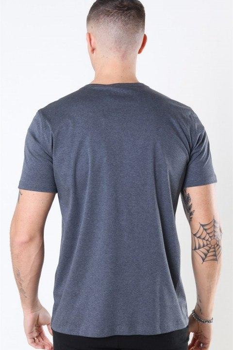 Mos Mosh Perry Basic T-shirt Dark Grey Melange