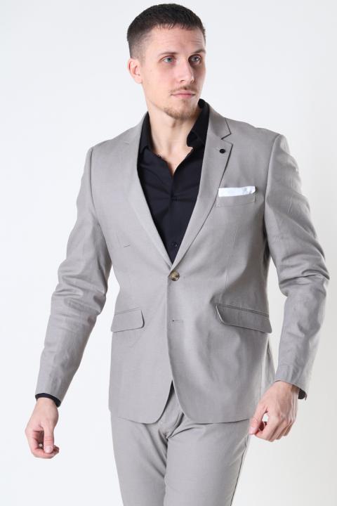 Clean Cut Copenhagen Cotton Linen Blazer Grey
