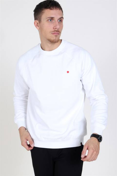 Denim Project Dot Crewneck Sweatshirt White