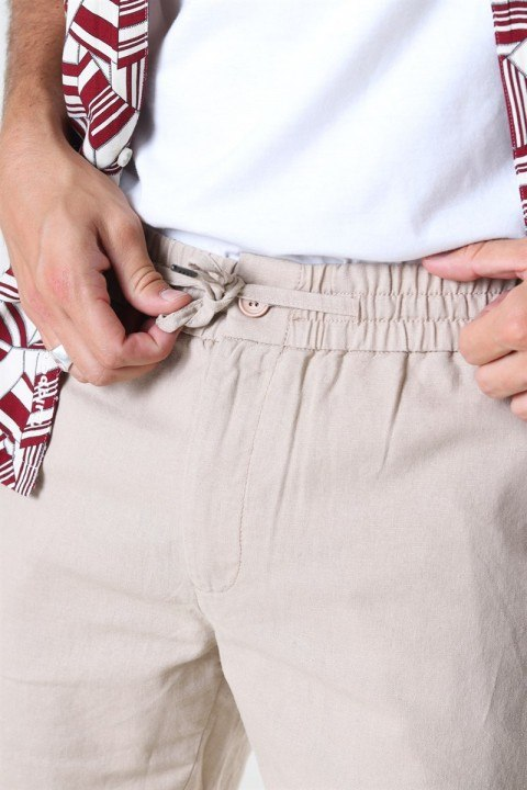 Clean Cut Barcelona Cotton/Linnen Shorts Khaki