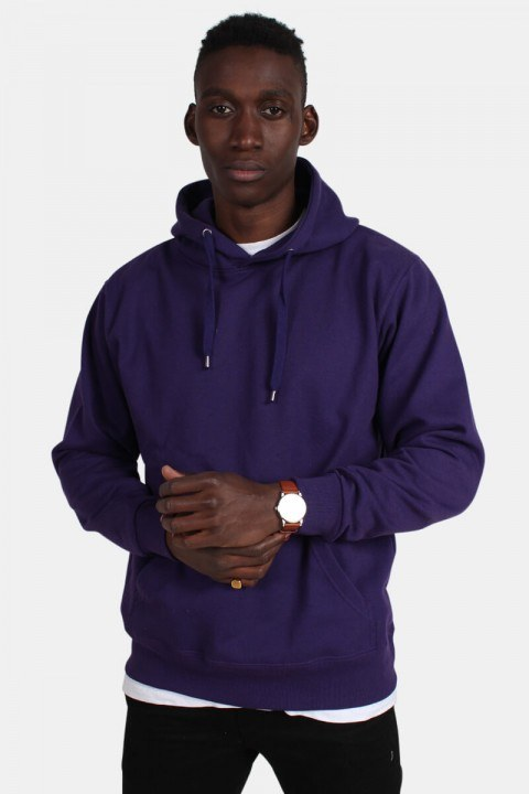 Basic Brand Hooded Tröja Violet
