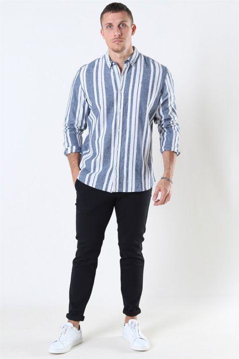 Clean Cut Sälen 146 LS Skjorta Blue/Off White