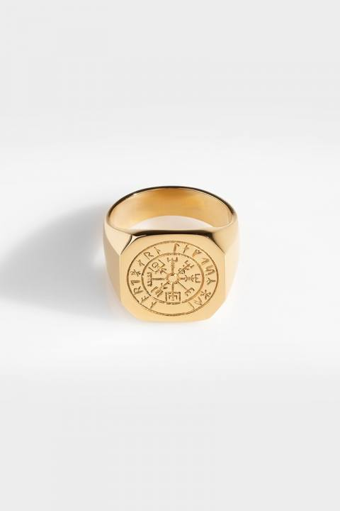 Northern Legacy Oversize Vegvisir Ringa Gold