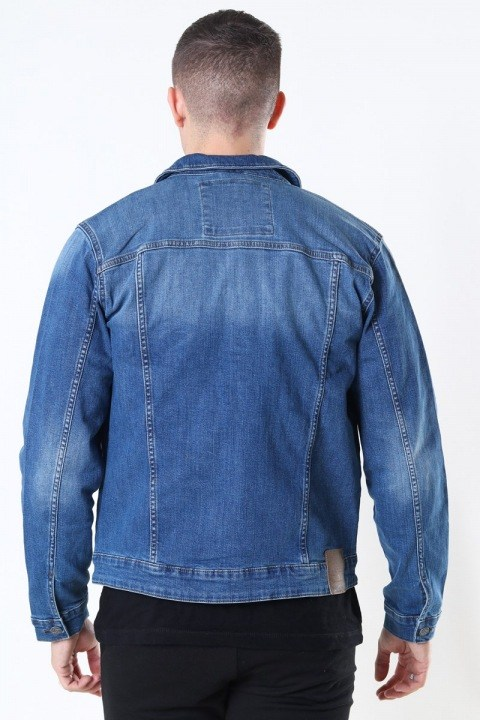 Only & Sons Coin Life Trucker Jacka 8615 Denim Blue