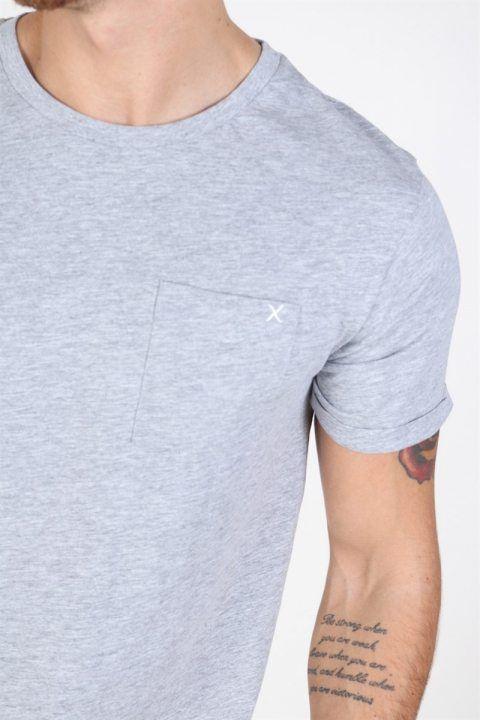Clean Cut Kolding T-shirt Light Grey Melange