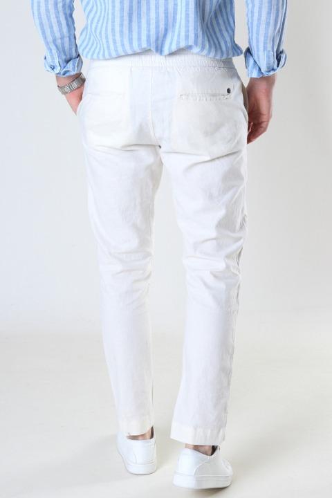 Clean Cut Copenhagen Barcelona Cotton / Linnen Pants Ecru
