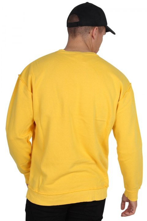 Klockaban Classics Oversized Open Edge Crew Sweat Chrome Yellow