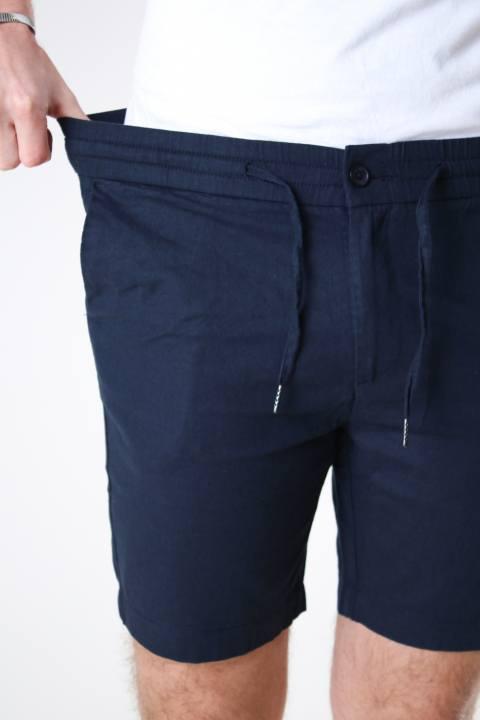 Clean Cut Copenhagen Barcelona Cotton / Linen Shorts Navy