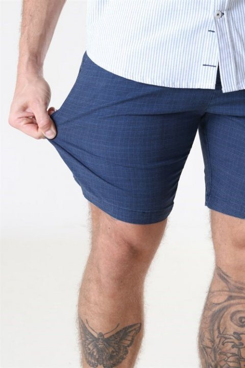 Kronstadt Hector Orleans Check Shorts Blue