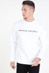 Denim Project Logo Crew Sweat White