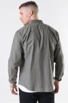 Clean Cut Cotton Linen Skjorta Dusty Green