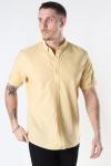 Clean Cut Copenhagen Cotton / Linnen Shirt S/S Pastel Yellow