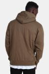 Basic Brand Hooded Tröja Army