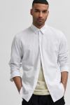 Selected SLHSLIMNEW-LINEN SHIRT LS W NOOS White