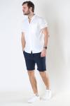 Solid SDTruc Shorts Linen Insignia Blue