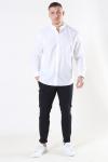 Clean Cut Cotton Linen Mao Skjorta White