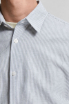 Selected SLHSLIMNEW-LINEN SHIRT SS CLASSIC W Sea Spray