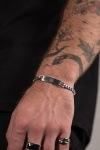 Northern Legacy Sequence Tag Armband Sølvtonet