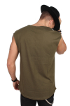Klockaban Classics TB1562 Open Edge Sleeveless T-shirt Olive