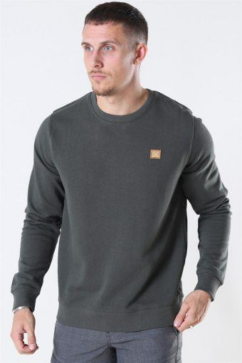 Clean Cut Basic Organic Crewneck Bottle Green