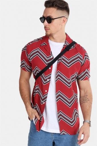 Jonathan Skjorta Trend Brick Red