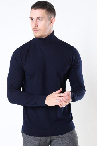 Clean Cut Merino Wool Roll Sticka Navy