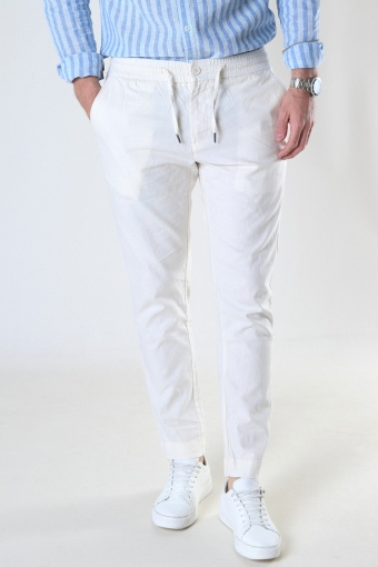 Barcelona Cotton / Linnen Pants Ecru