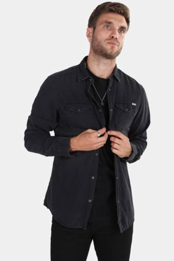 Sheridan Skjorta LS Black Denim