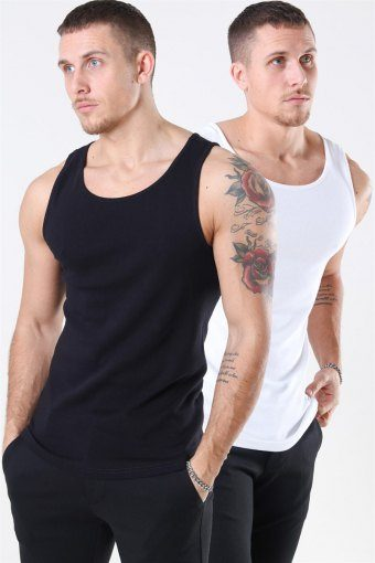 Nate Tank Top 2-Pack Black/White