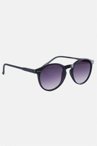 Fashion 1380 Panto Black Rubber Solgasögon Grey Gradient