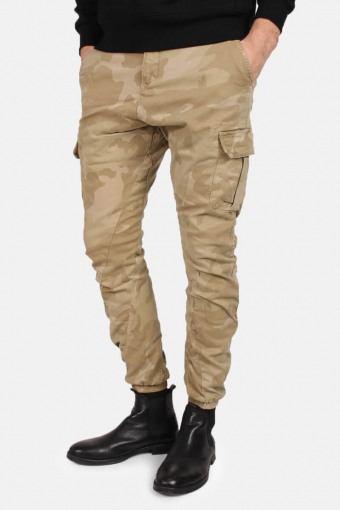 Klockaban Classics Tb1611 Camo Cargo Jogging Pants Sand Camo