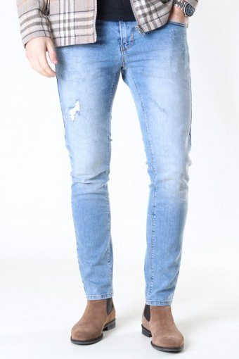 David Slim Stretch Jeans Light Blue Denim
