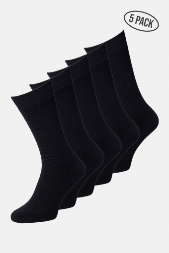 JACJENS SOCK 5 PACK NOOS Black Black & Black & Black & Black