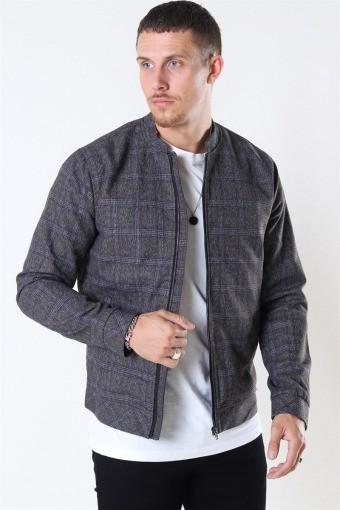 Tailored & Originals Shayan Bomber Jacka Med Grey Melange