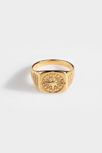 Compass Signature Ringa Gold