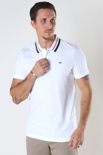 Tommy Hilfiger TJM CLASSICS TIPPED STRETCH POLO White