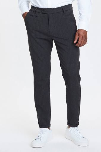 Como Pinstripe Suit Pants Charcoal/Olive Green