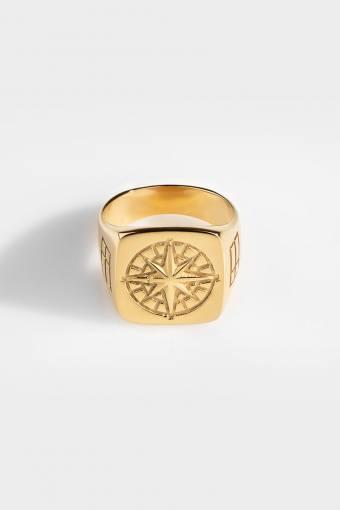 Oversize Compass Ringa Gold