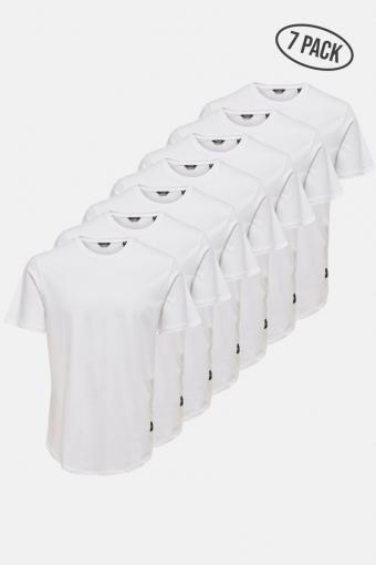 ONSMATT LIFE LONGY SS TEE 7-PACK White