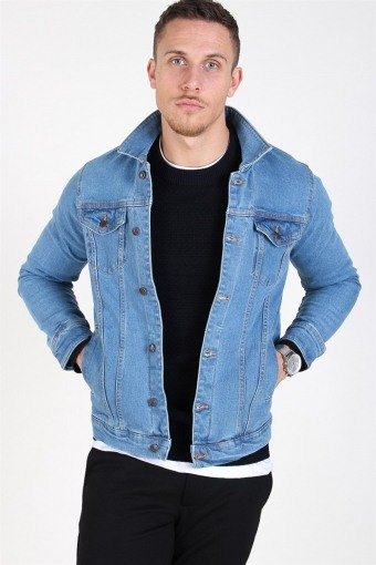 Kash Denim Jacka Light Blue