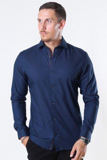 Viggo Dobby Skjorta Navy Blazer